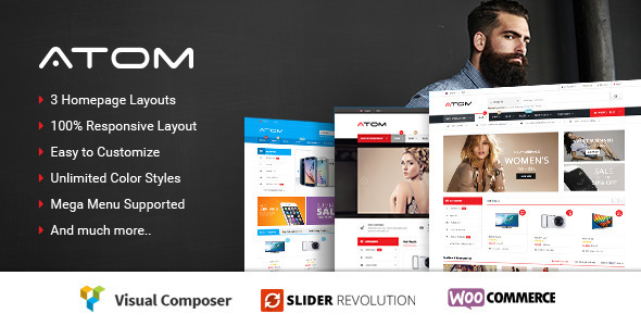Atom – Responsive WooCommerce WordPress Theme