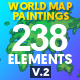 World Map Paintings Pack - VideoHive Item for Sale