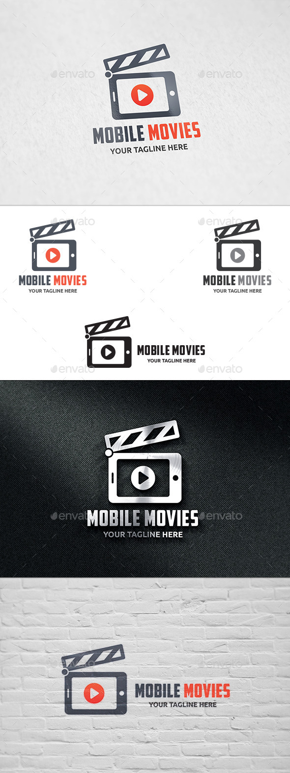 Mobile Movies Logo - Objects Logo Templates