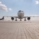 Plane Landed And Moves To The Camera - VideoHive Item for Sale