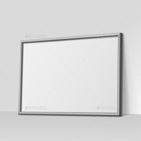 Dark Gray Horizontal Frame for Paintings