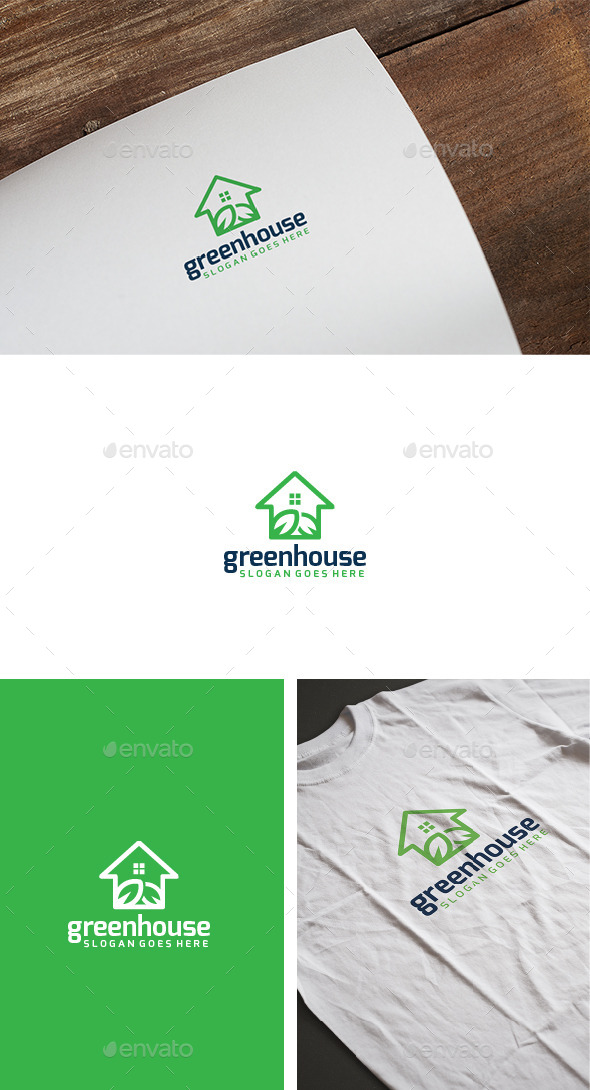Green House Logo - Nature Logo Templates