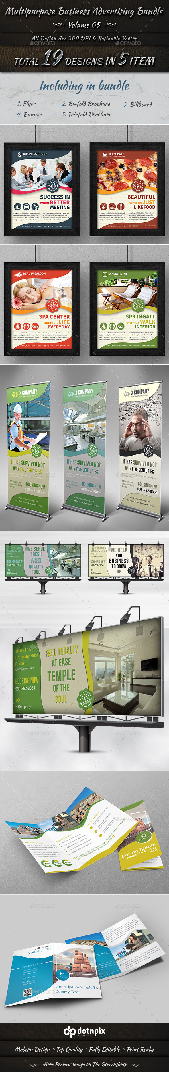 Multipurpose Business Advertising Bundle Vol 5