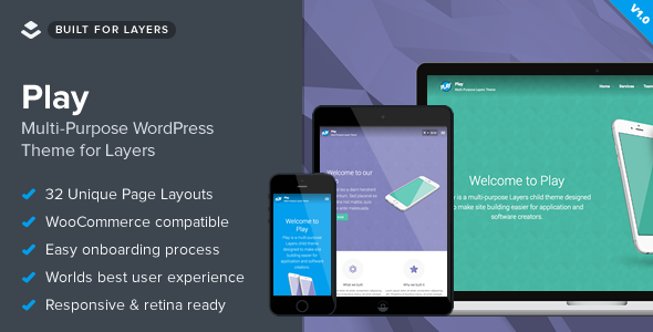 Play - Responsive Multi-Purpose Layers Theme - Technology WordPress