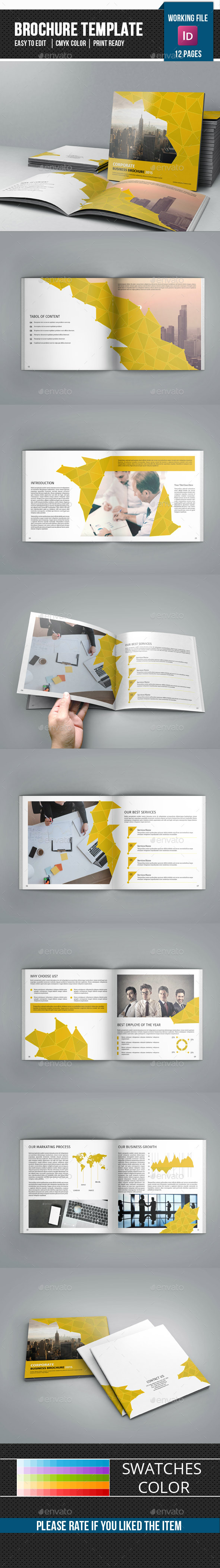 Corporate Square Bifold Brochure-V75 - Corporate Brochures