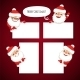 Set of Cartoon Santa Clauses Behind an Empty Sheet - GraphicRiver Item for Sale