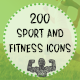 Sport and Fitness Hand Drawn Icons - GraphicRiver Item for Sale