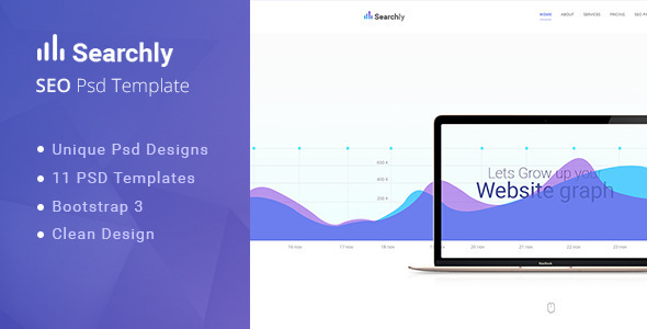 Searchly| Multipage Seo Psd Template