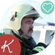 Firefighter With a Mustache In Helmet - VideoHive Item for Sale