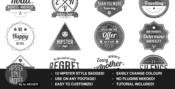 Hipster Badges Pack Vol 1
