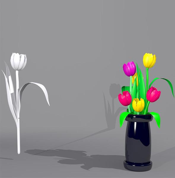 Tulip Flower Package  - 3DOcean Item for Sale