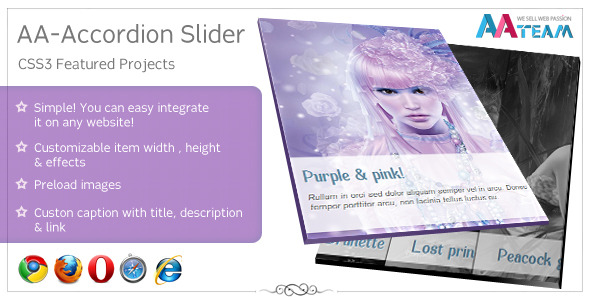 AA-Accordion Slider - CSS3 Featured Projects  - CodeCanyon Item for Sale