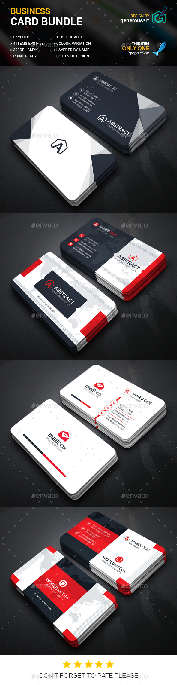 Business Card Bundle 4 in 1 Vol.22