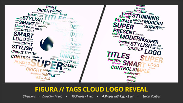 Figura Tags Cloud Logo Reveal
