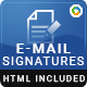 10 Email Signature Templates - HTML Files Included - GraphicRiver Item for Sale