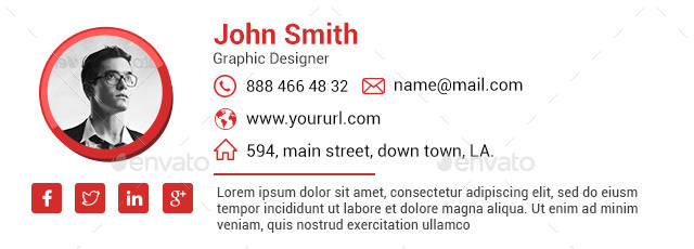 10 Email Signature Templates - Html Files Included By Doto