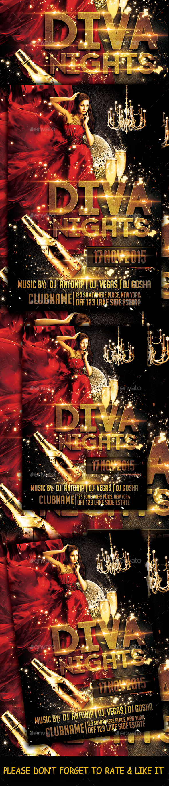 Diva Night Flyer - Clubs & Parties Events