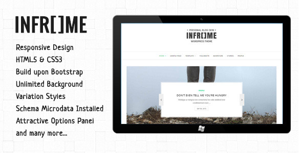 Inframe – Personal WordPress Blog Theme