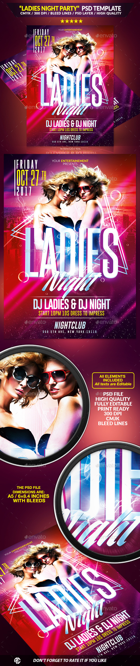 Ladies Night Party | Psd Template - Clubs & Parties Events