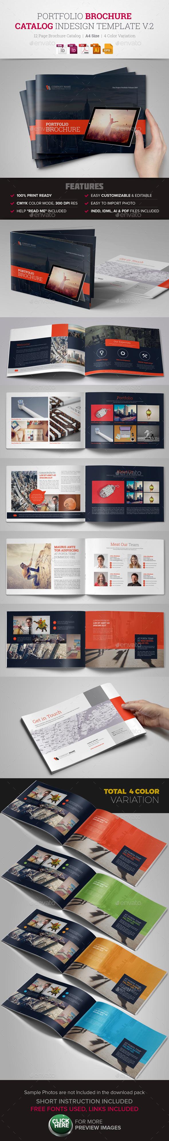 Portfolio Brochure InDesign Template v2 - Corporate Brochures