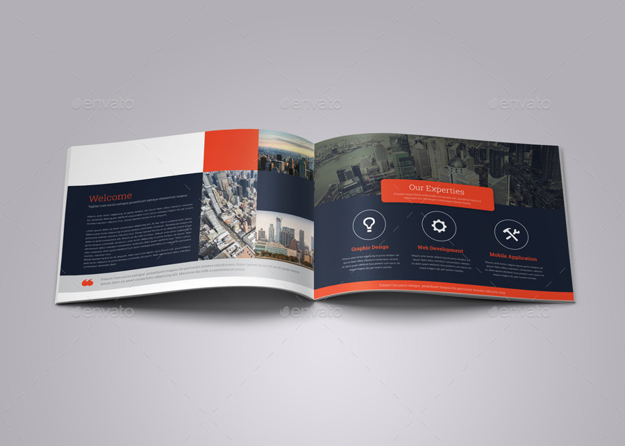 Portfolio Brochure InDesign Template V By JbnComilla GraphicRiver - Indesign template brochure