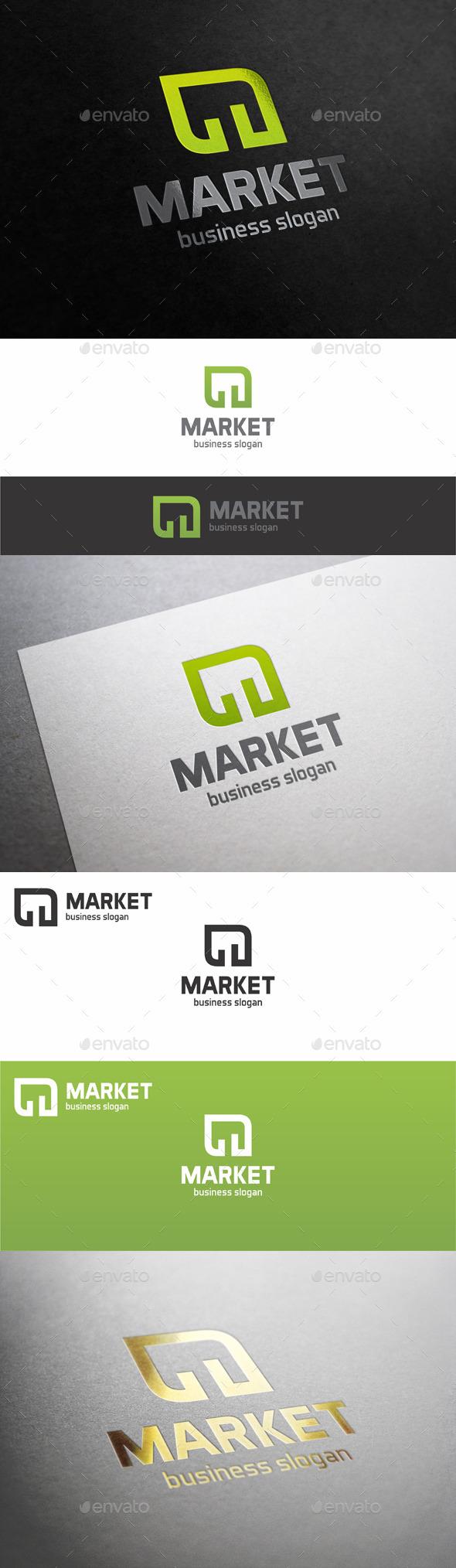 Market Stats Green Leaf Logo