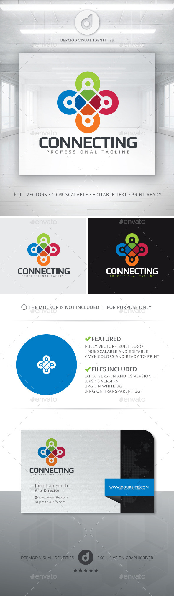 Connecting Logo - Abstract Logo Templates