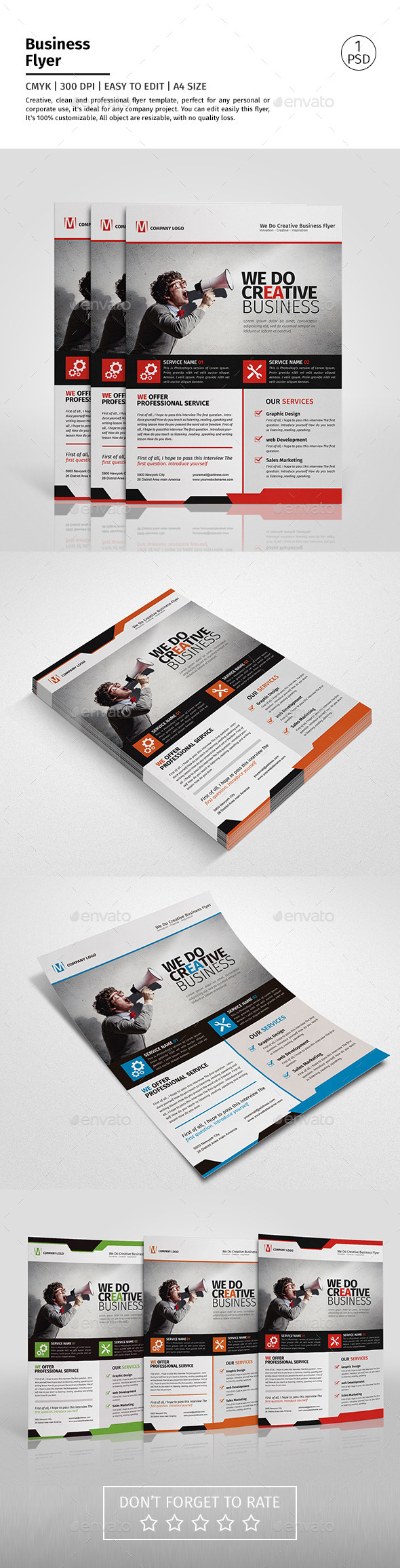 A4 Corporate Business Flyer Template Vol 07 - Corporate Flyers