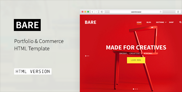 BARE – Portfolio & Agency HTML Template
