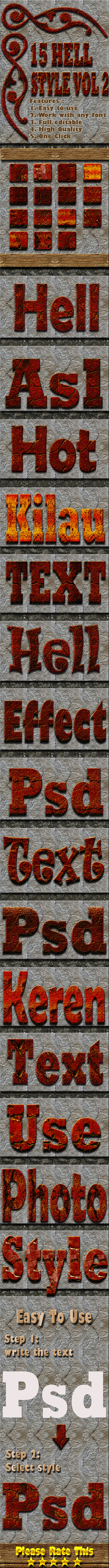 15 Hell Text Effect Style Vol 2 - Text Effects Styles