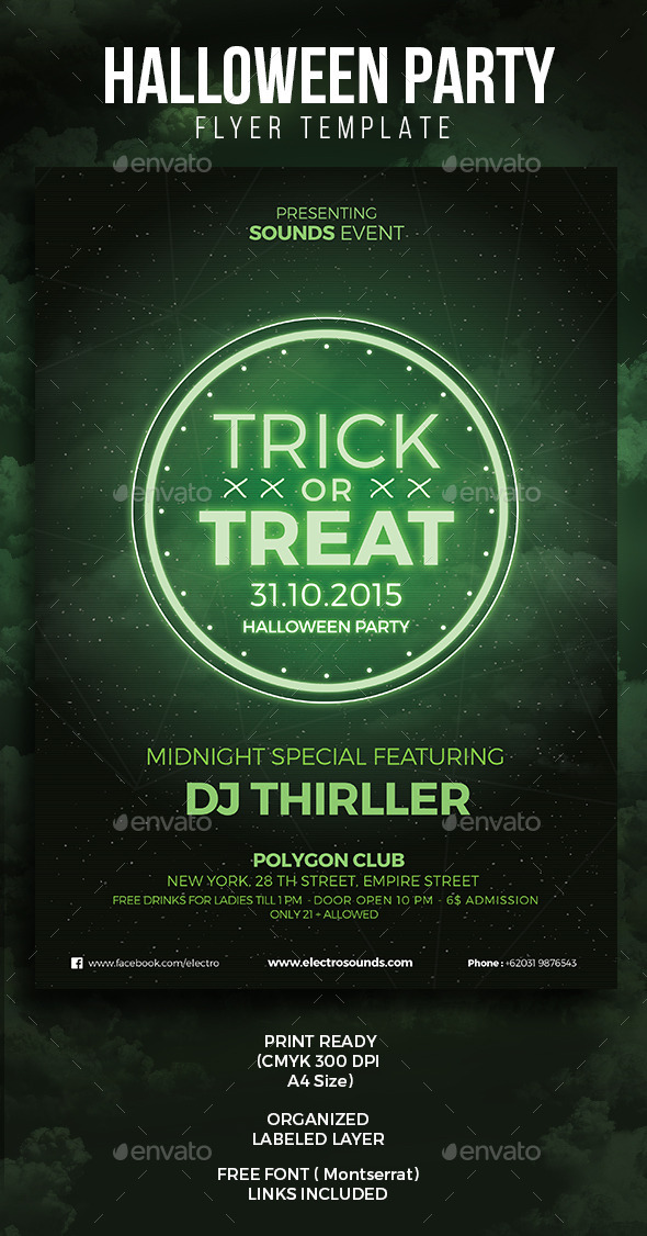Halloween Spooky Party Flyer - Clubs & Parties Events