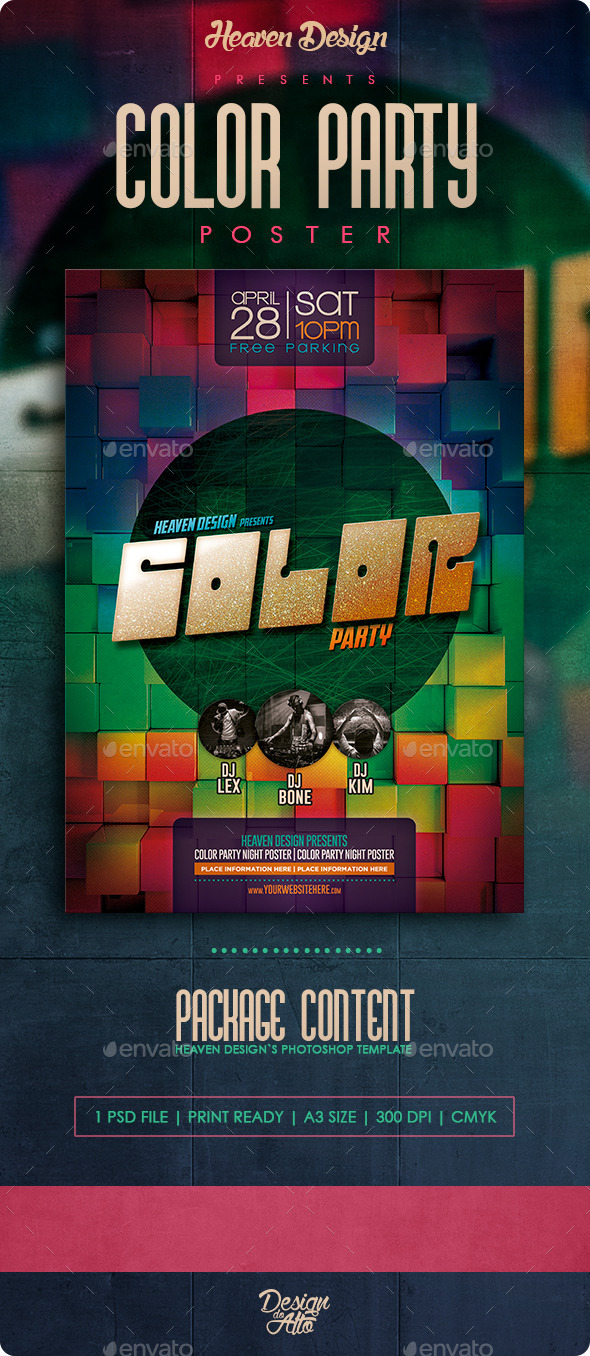 Color Party | Poster - Clubs & Parties Events