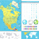 North America Detailed Political Map Image Set - GraphicRiver Item for Sale