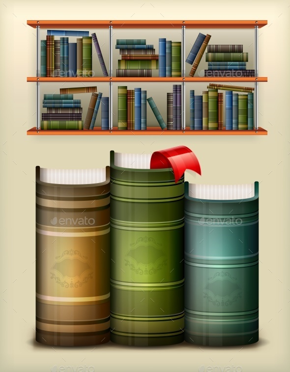 Stack of Books  - Miscellaneous Vectors