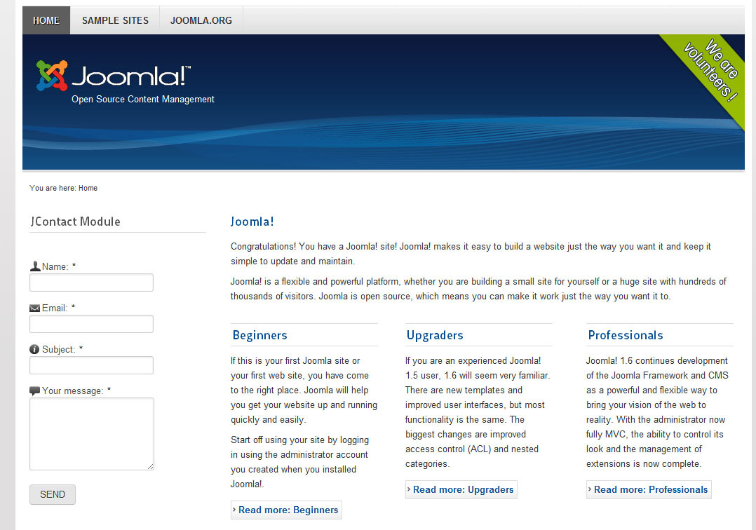 JContact Form Module