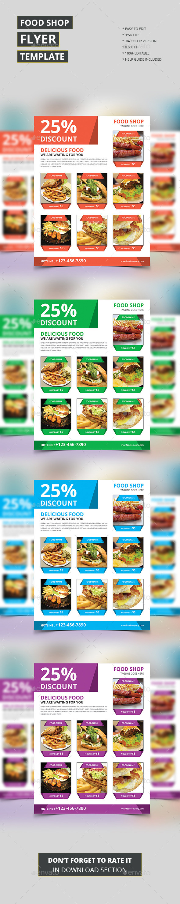 Food Shop Flyer Template - Restaurant Flyers