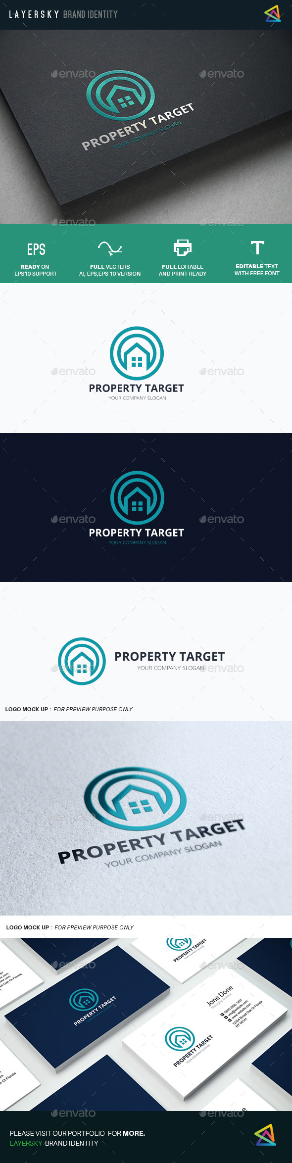 Property Target - Buildings Logo Templates