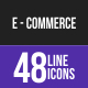 Ecommerce Line Inverted Icons - GraphicRiver Item for Sale