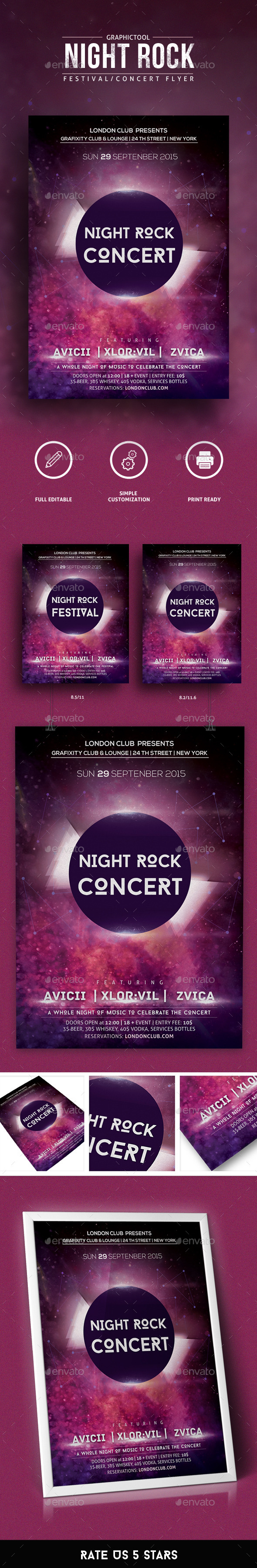 Night Concert/Festival Flyer - Concerts Events