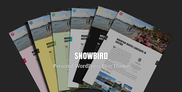 Snowbird – Personal WordPress Blog Theme