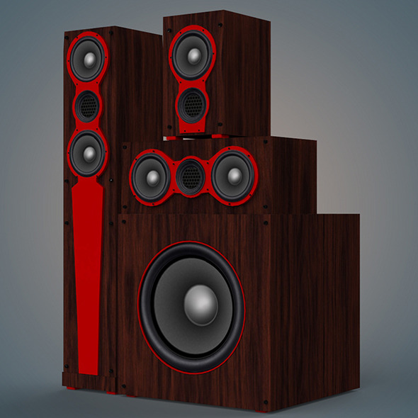 speaker - 3DOcean Item for Sale