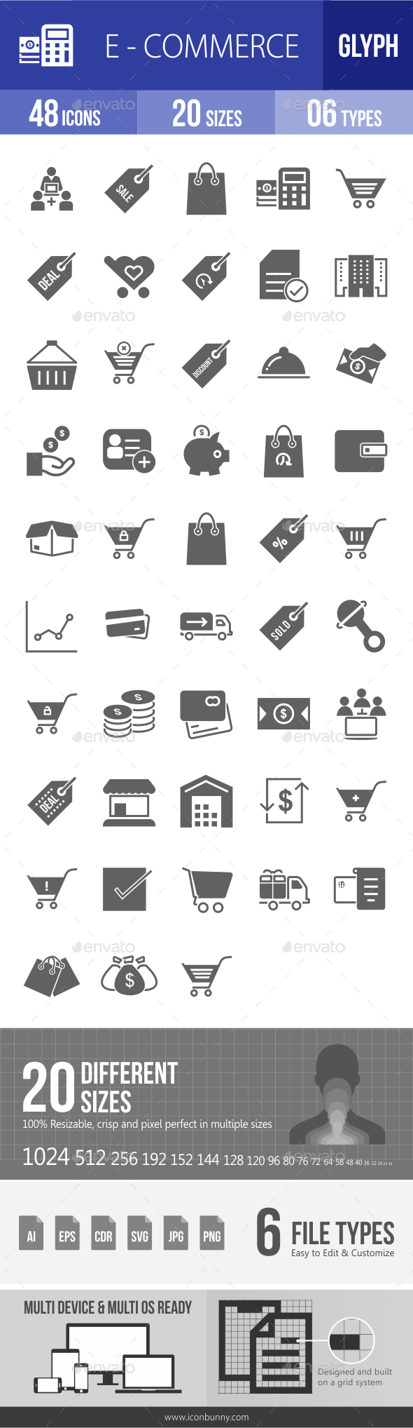 Ecommerce Glyph Icons - Icons