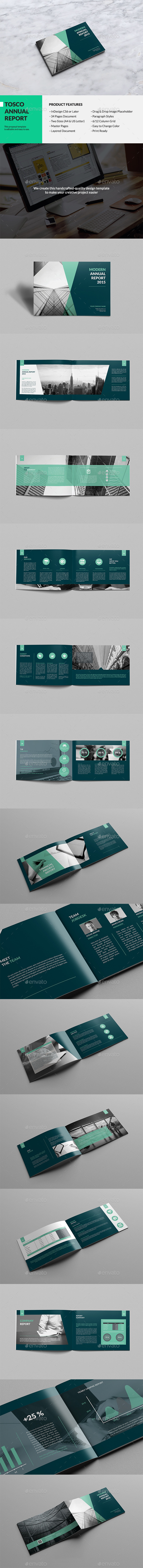 Tosco - Corporate Annual Report - Brochures Print Templates