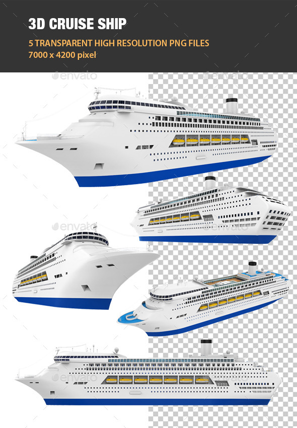 3D Cruise Ship - Objects 3D Renders