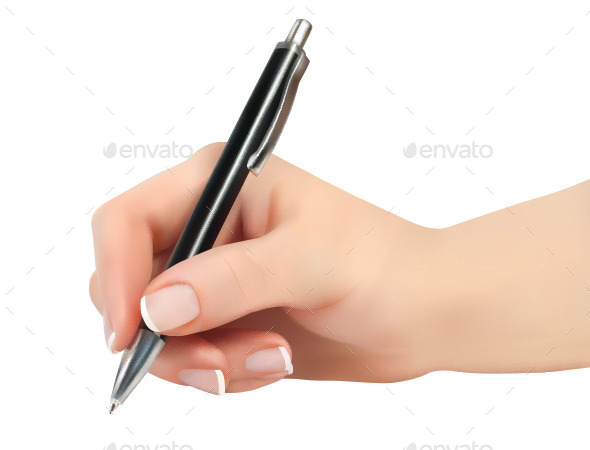 Hand Holding Pen - Concepts Business