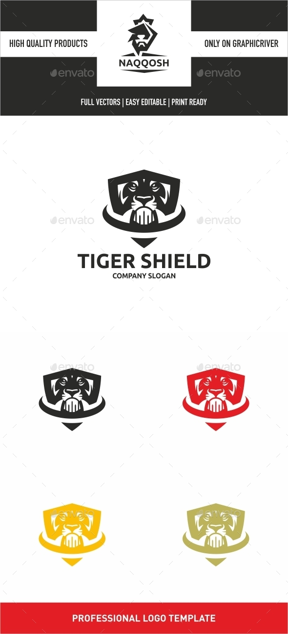 Tiger Shield - Abstract Logo Templates