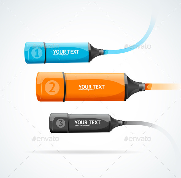 Marker Highlighter Option Banner Vector