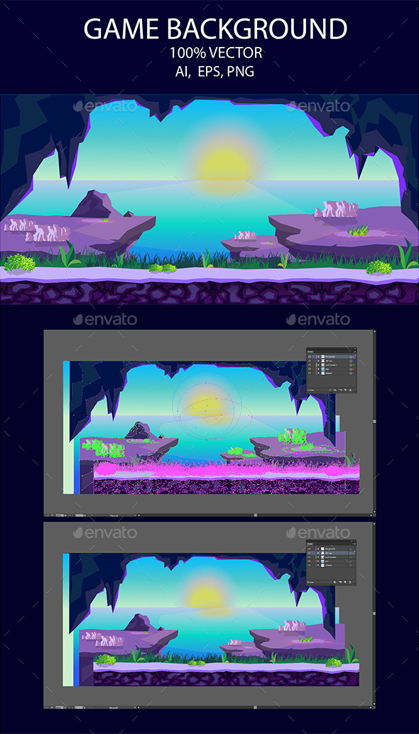 Game background Rocks - Backgrounds Game Assets