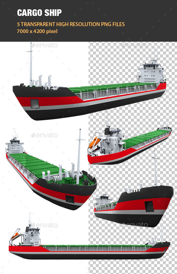 3D Cargo Ship - Objects 3D Renders