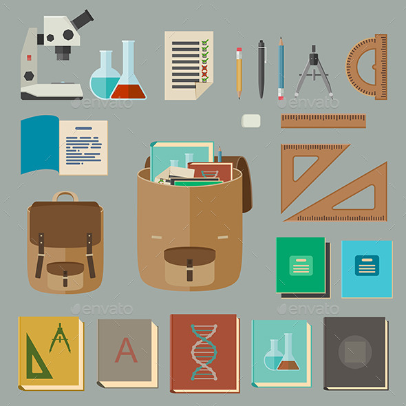 Education and Knowledge Symbols - Man-made Objects Objects